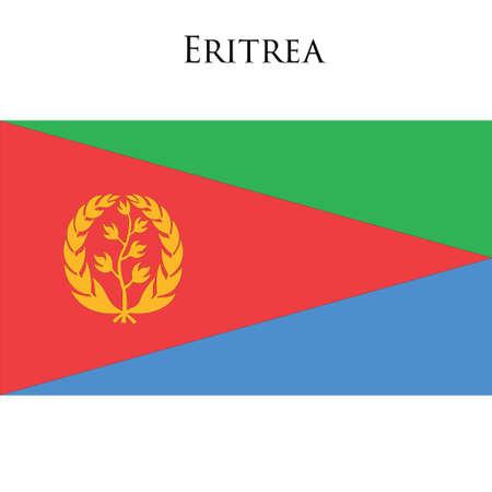law of brazil: Flag of Eritrea against white background. Vector illustration Illustration