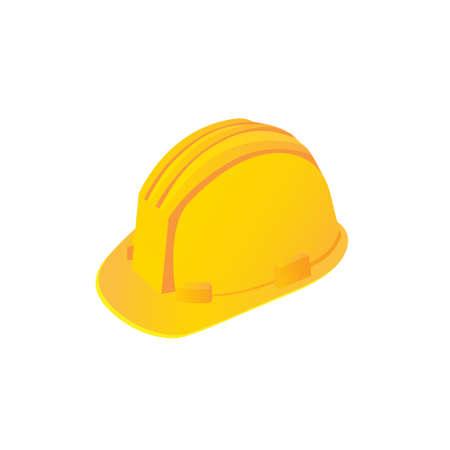 Large construction helmet on a white background. Vector illustration
