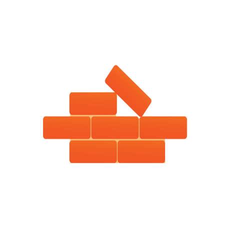 masonry: The large brick building on a white background. Vector illustration Illustration