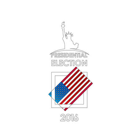 The presidential election voting card. Vector illustration