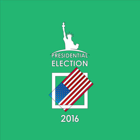 presidential: The presidential election voting card on a green background. Vector illustration