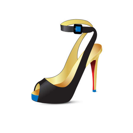 Beautiful shoes with high heels. Vector illustration Illustration