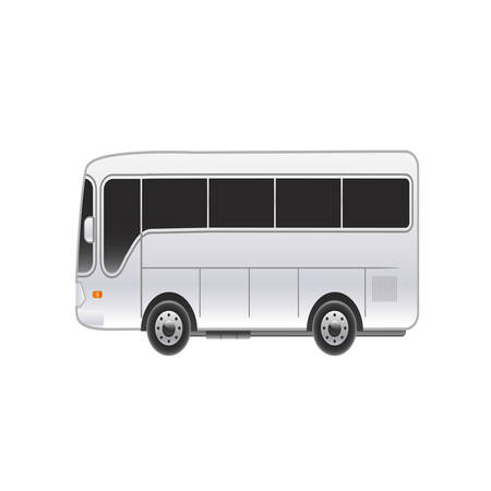 omnibus: Large bright bus on a white background. Vector illustration