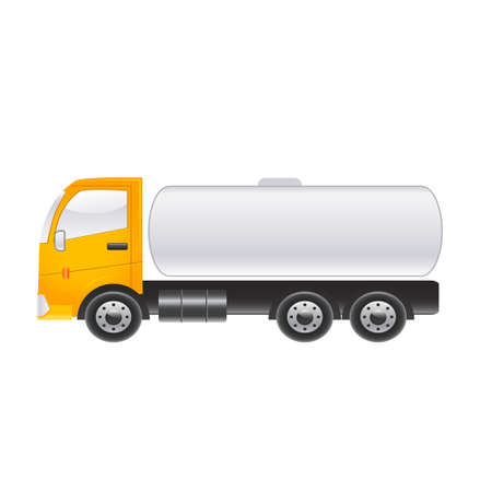 tractor trailer: Long truck on a white background. Vector illustration Illustration