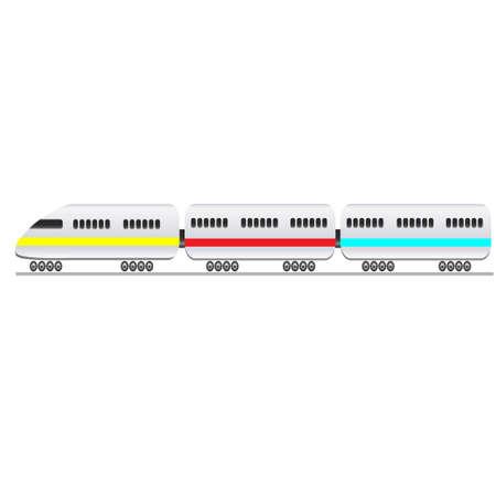 the passenger: Passenger train on a white background. Vector illustration Illustration