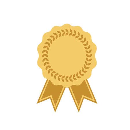 Trophy Auszeichnung Gold Farbe auf weißem Hintergrund. Vektor-Illustration