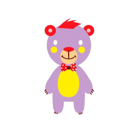 Jolly Bear color on a white background. Vector illustration Illustration