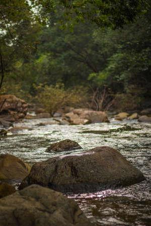 cataract waterfall: Stone in Waterfall