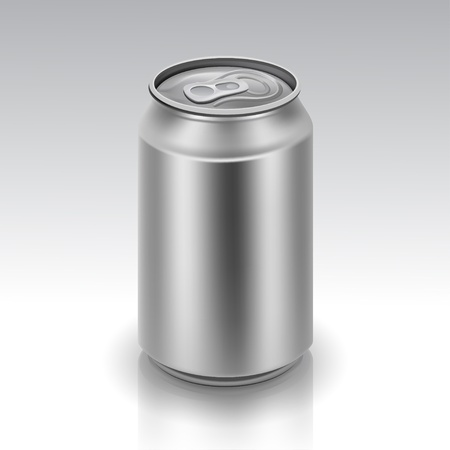 unprinted: Vector Realistic Metal Can Illustration