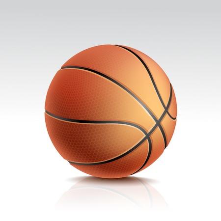 sport equipment: Isolated Basketball Ball on White Background