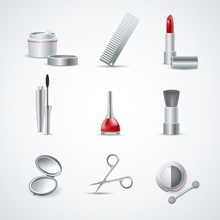 pedicure set: Set of Makeup and Cosmetic Icons