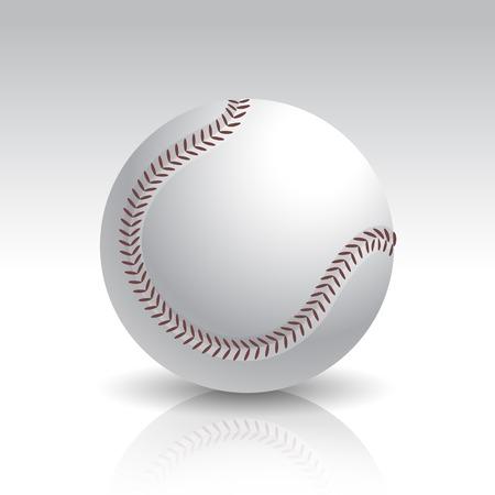 pelota beisbol: Ilustraci�n del vector de la bola de b�isbol aislados Vectores