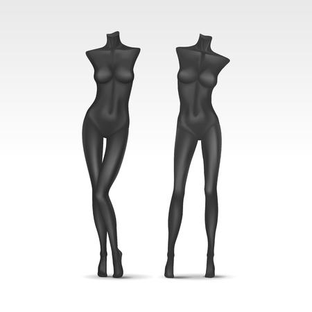 Vector isolato Mannequin femminile