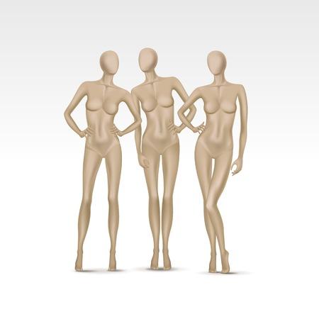 Vector set di isolati Femmina Mannequins