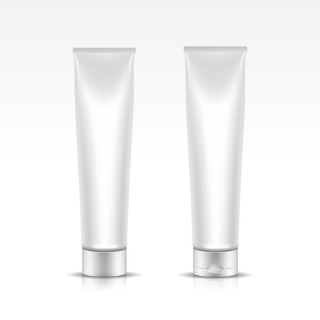 Vector Illustration of Tube for Cosmetic Package Vector