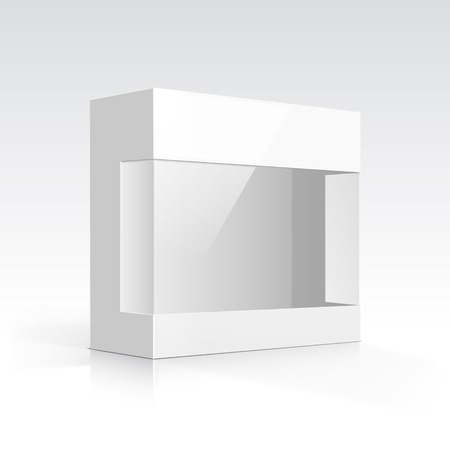 Vector Blank Box with Transparent Window Vector