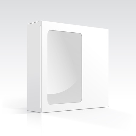 Vector Blank Box with Transparent Window Ilustrace