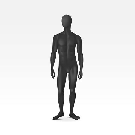 Vector Isolated Male Mannequin Vector