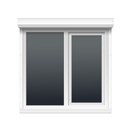 Vector Window with Rolling Shutters Stock Vector - 24057805