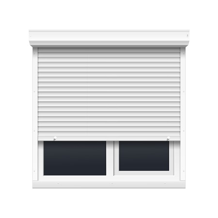 Vector Window with Rolling Shutters Imagens - 24057812