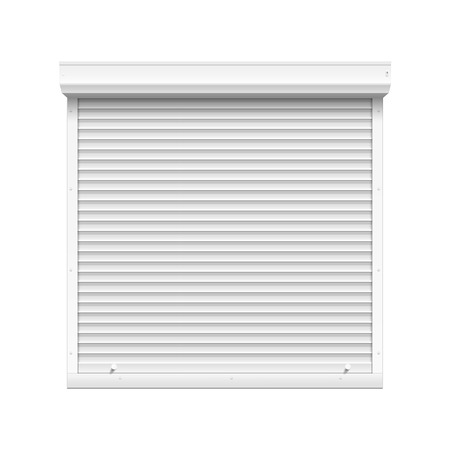 Vector Window with Rolling Shutters Vector