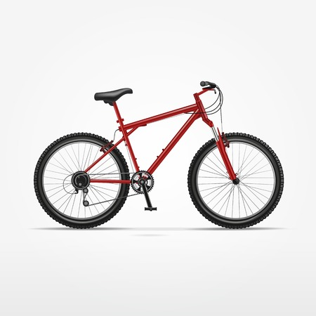 Realistische Vektor Isoliert Fahrrad Standard-Bild - 25127386