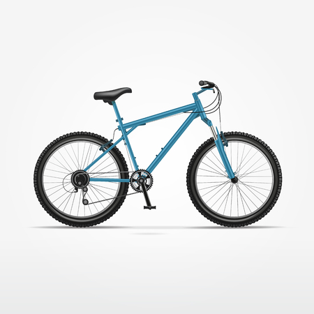 Vector Realistic Isolated Bicycle Vector