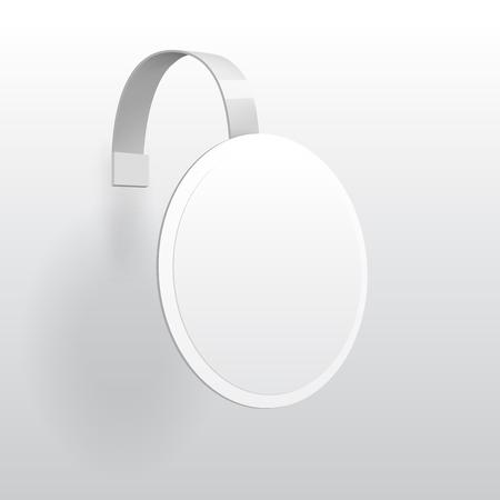 advertising wobbler: Vector Blank Wobbler with Transparent Strip