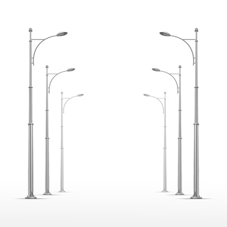 old street: Vector Street Lamp Isolated on White Background
