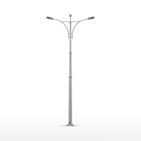 lamp posts: Vector Street Lamp Isolated on White Background