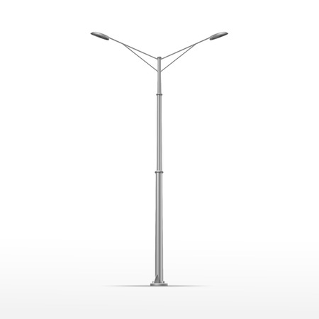 lampposts: Vector Street Lamp Isolated on White Background