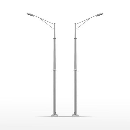 Vector Street Lamp isolato su sfondo bianco Vettoriali