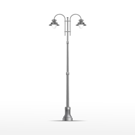 Vector Street Lamp Isolated on White Background Vector