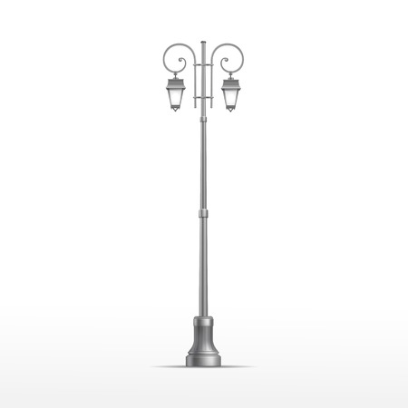 streetlamp: Vector Street Lamp Isolated on White Background