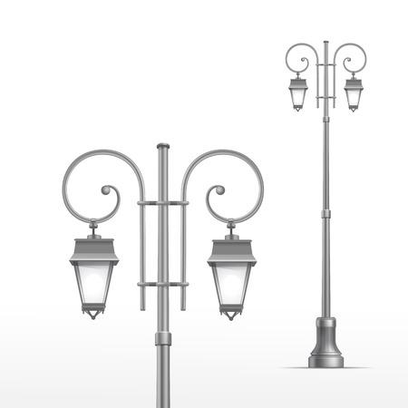 streetlight: Vector Street Lamp Isolated on White Background