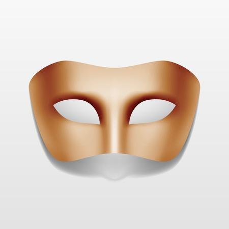 Vector Carnaval maskerade partij masker geïsoleerd Stock Illustratie