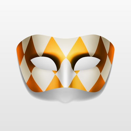 paper mask: Vector Carnival Masquerade Party Mask Isolated