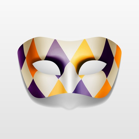 buffoon: Vector Carnival Masquerade Party Mask Isolated