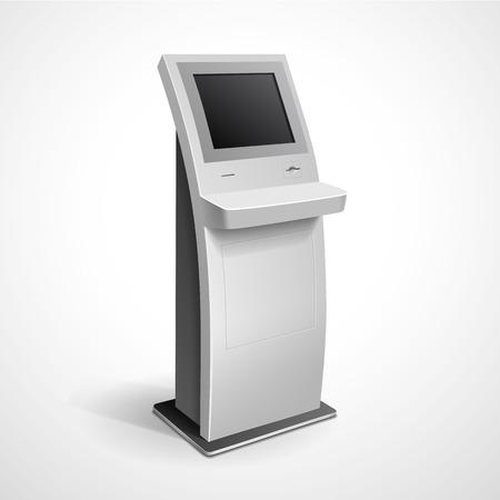 Informatie Display Monitor Terminal Stand Stock Illustratie