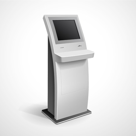 Information Display Monitor Terminal Stand Illustration
