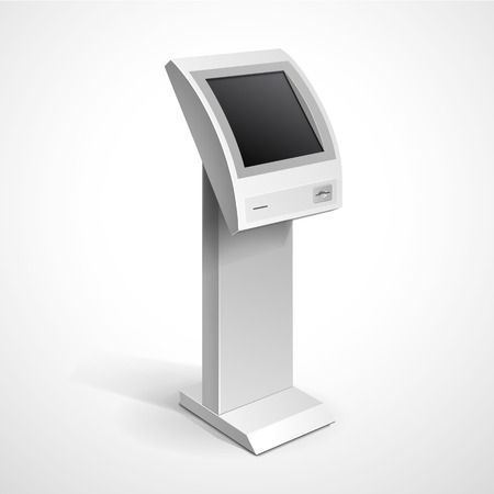 kiosk: Information Display Monitor Terminal Stand Illustration