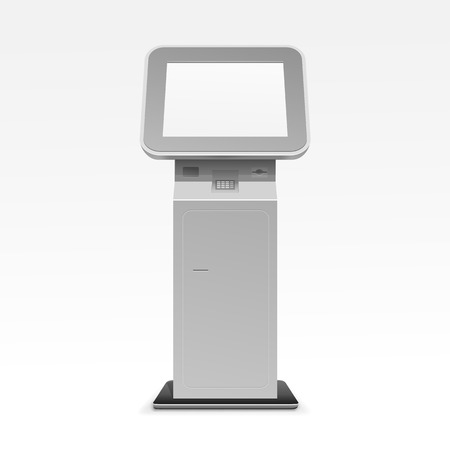 Information Display Monitor Terminal Stand Ilustrace