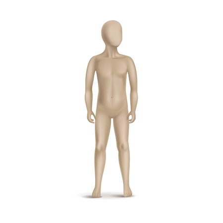 Vector Child Mannequin Isolated on White Vector