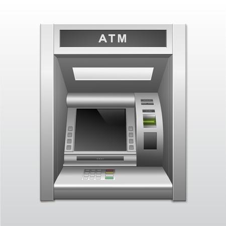 Geïsoleerde ATM Bank Geldautomaat Vector Illustratie