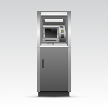 automatic machine: ATM Bank Cash Machine Isolated