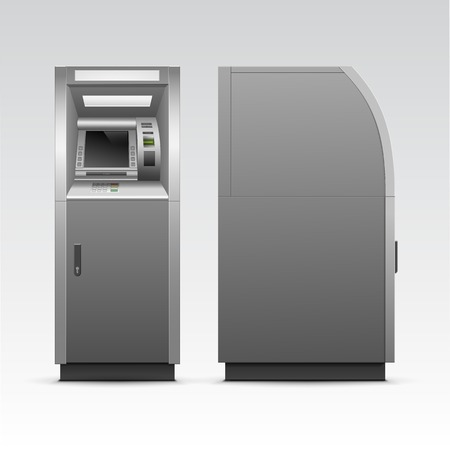 Vector ATM Bank Cash Machine Isolated Vector