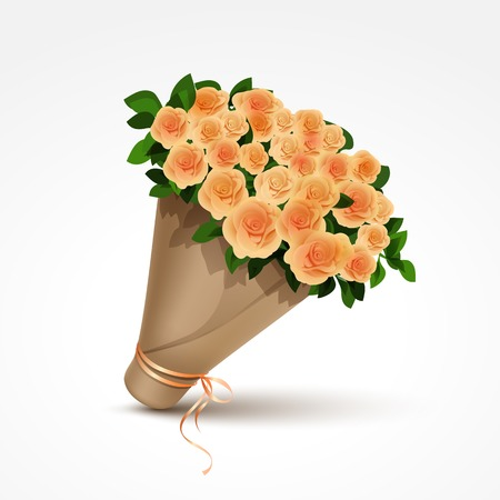 gele rozen: Boeket van gele rozen geïsoleerd