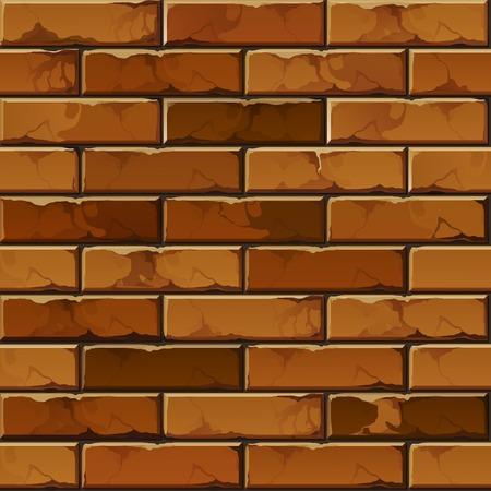 Vector bakstenen muur Textuur Stock Illustratie