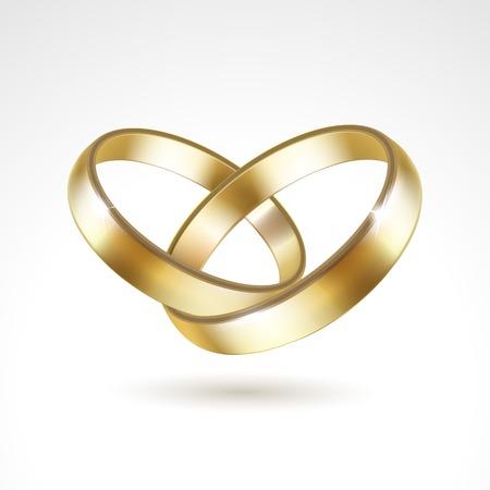벡터 골드 결혼 반지 절연