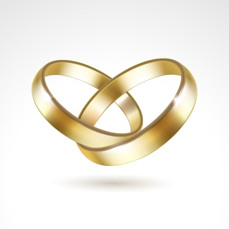Vector Gold Wedding Rings Isolated 版權商用圖片 - 31816520